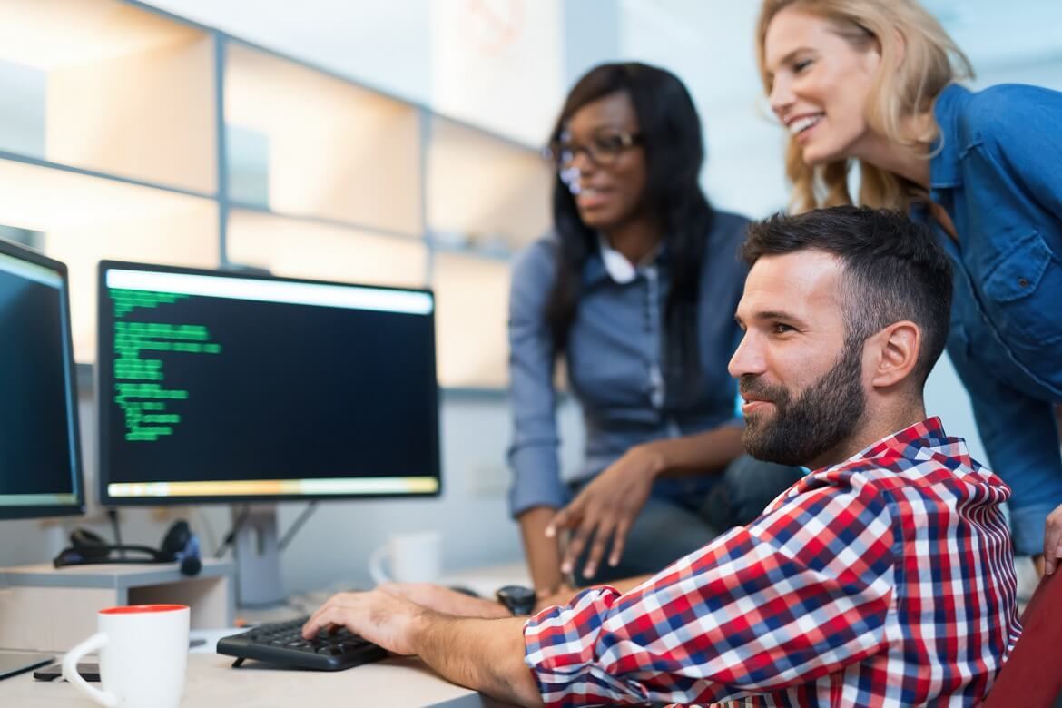 programmers cooperating at information technology